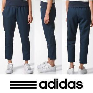 Adidas Originals Trefoil Honeycomb Jacquard Ankle Pants in Legend Ink Sz M